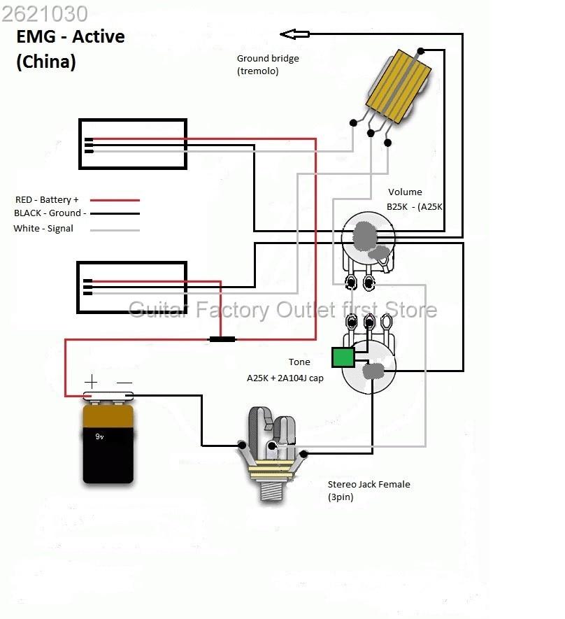 emg 81 85 pickups wiring diagram