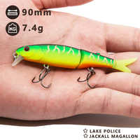 Hunthouse jackal pike fishing lure 11.3&9cm jointed bait soft tail minnow lure diving swimbaits slow sinking bait fishing leurre