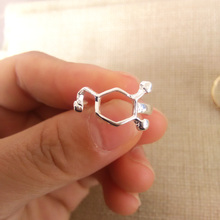 3pc Brand New Fashion Rings Dopamine Molecule Chemistry Jewelry Science Ring Women Girls Party Gift Can Mix Color