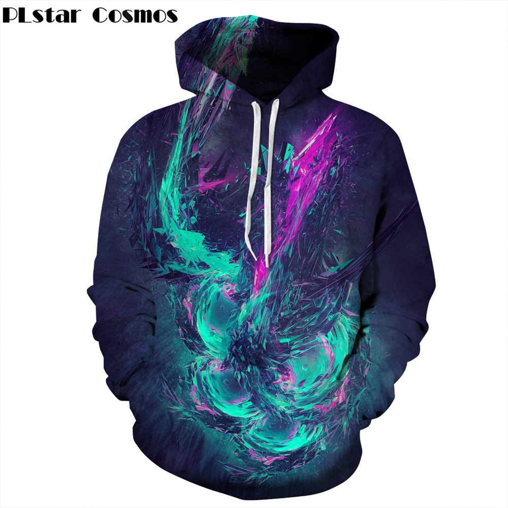 PLstar Cosmos Brand clothing Autumn/Winter Thin 3d Sweatshirts Men/Women Hoodies Print Dreamy Colorful casual Hoodies Pullovers