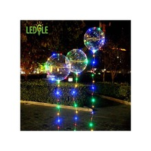Фотография LEDGLE Clear Air Balloon Light Fairy String Lights Creative Bobo Balloon for Parties and Wedding, 4 Color Modes, Battery Powered