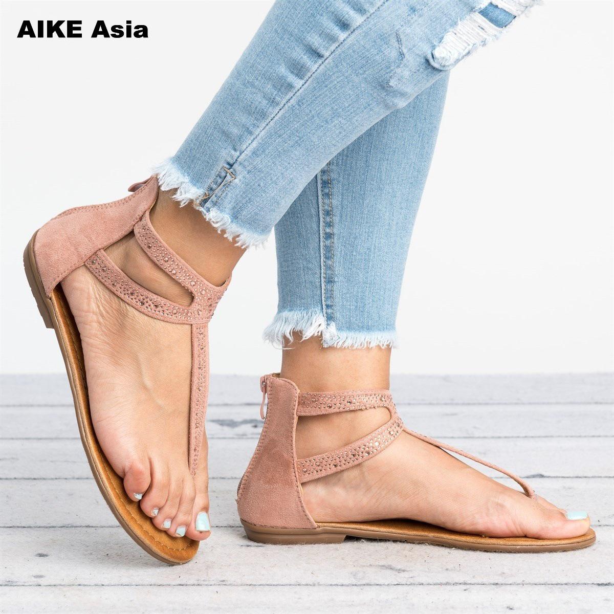 Womens summer flat sandals  ethnic sandal flat flip flop handmade sandals
