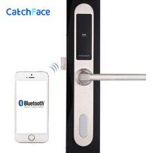 Fechadura da porta eletrônica, wifi app inteligente bluetooth digital teclado código keyless fechadura da porta, senha keyless fechadura da porta casa