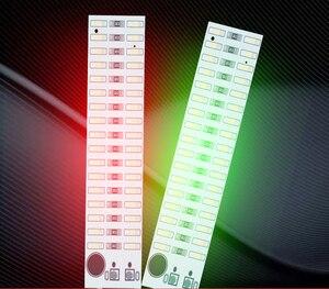 Image 2 - 2X17 LED USB Mini ses kontrolü ses USB müzik spektrum ışık flaş ses seviyesi göstergesi için LED MP3 amplifikatör