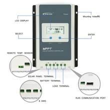 Traceur de Charge pour panneaux solaires, 20a 10a, 1206AN 1210AN 2206AN 2210AN, régulateur LCD rétro-éclairé pour batterie au Lithium-ion