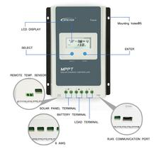 20A 10A Solar Charge Controller Tracer 1206AN 1210AN 2206AN 2210AN Back-light LCD Regulator for Lead-acid Lithium-ion Battery