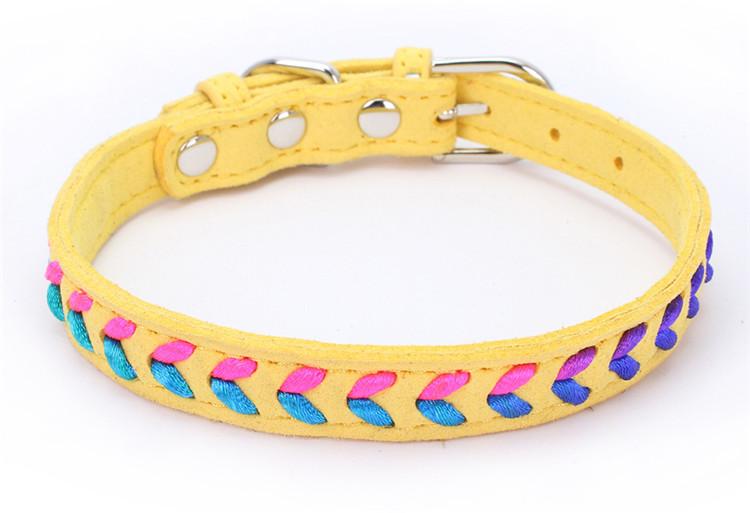 Collier tendance Coloré Chat, chaton et chien jaune