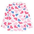 Bebé ropa 2016 de algodón de manga larga linda lotila patrón chica camiseta nova niños niños ropa de bebé ropa de la muchacha