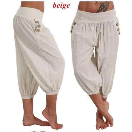 Harem Aladin Pantalones Pirata Para Verano 3 4 Pantalones Mujer