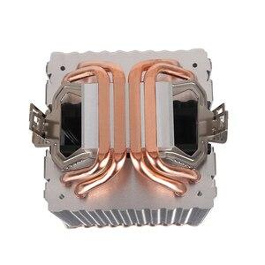 Image 4 - קריר מאוורר למעבד אינטל AMD מעבד 4 חום צינורות קירור 4PIN מעבד רדיאטור 3 מאוורר