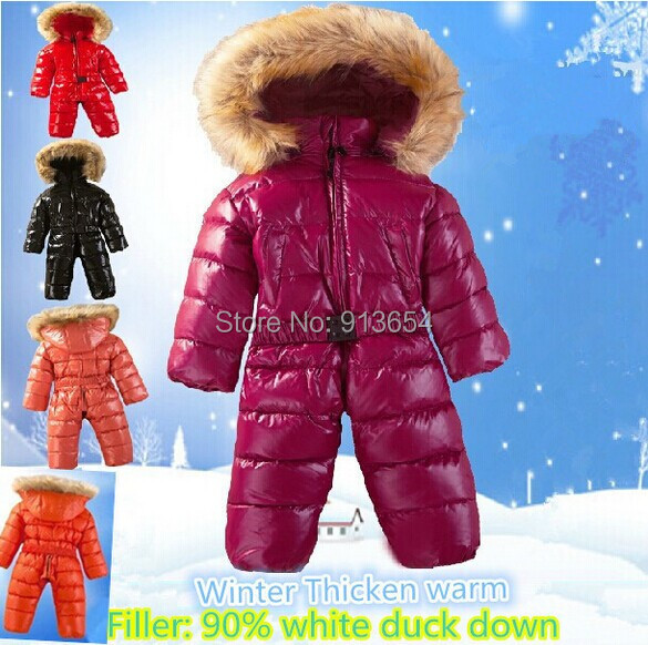 new 2014 autumn winter romper baby clothing newborn down jacket Romper baby boy thick warm jumpsuit