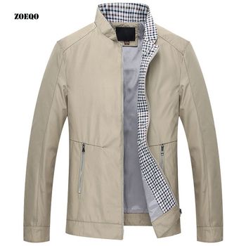 Men Spring solid Jackets and Coats Jaqueta Masculina Thin Male Casual Slim Fitted Zipper Jackets Hombre