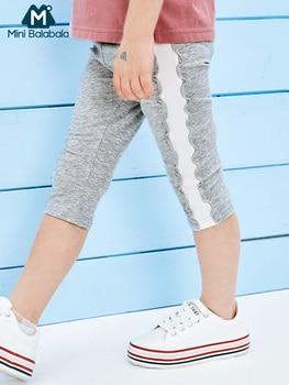 Mini mallas balabala para niñas, pantalones 6 °, novedad de verano 2019, pantalones ajustados con costuras para niños, mallas finas