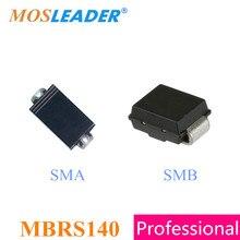 Mosleader MBRS140 SMA SMB 500 قطع 2500 قطع 5000 قطع DO214AC DO214AA 1A 40 فولت MBRS140T3G MBRS140L3 MBRS140L3G عالية الجودة