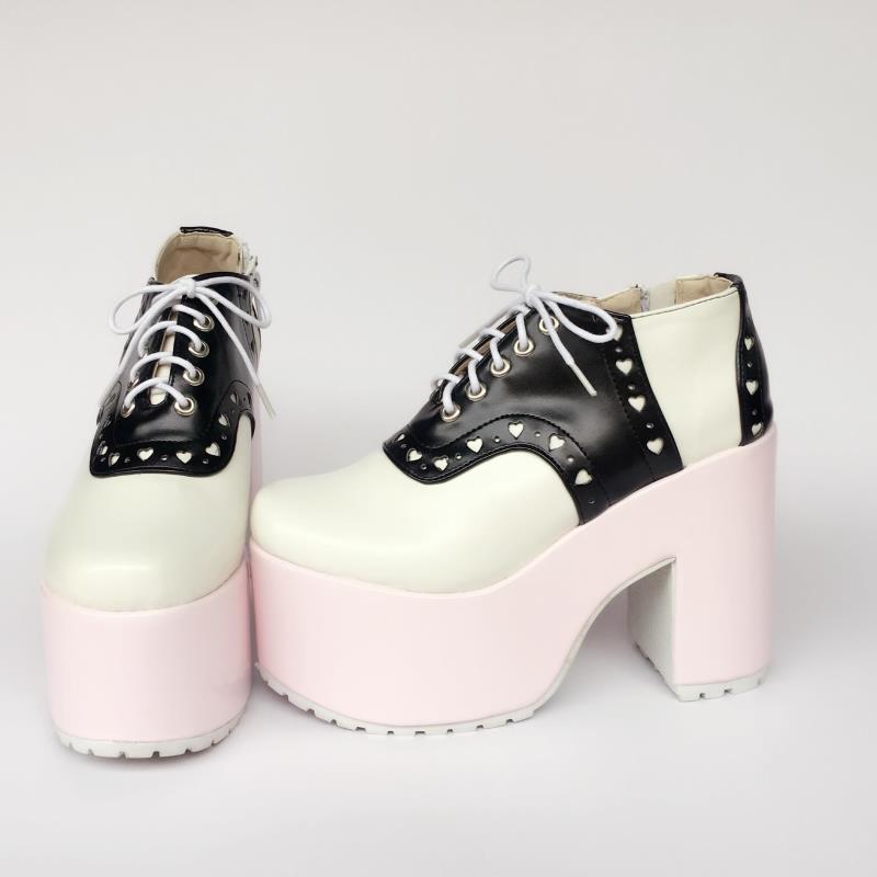 Punk Adorable Sandalias Hermana Mollete Mujeres Lindo Suave Verano Color Y Negro An7535 Las De Zapatos Caramelo Dulce Del Princesa 7Zq5ff