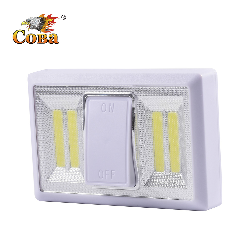 Coba Cob Wall Lights For Home 3*AAA Wall Lamp Wardrobe Light Decoration Protable Battery Operated Tap Wardrobe Touch Light