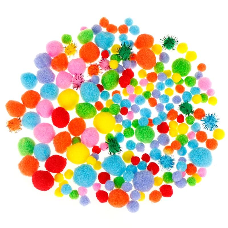 1 Bag Pompom Multicolor 10-50mm Soft Pom Poms Balls Fur Plush Ball DIY Handcraft Wedding Home Decoration Party Supplies