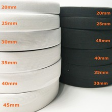 HL 5 meters 3/6/10/12/15/25/30/35/40/45/50/60MM  White/black Nylon Highest Elastic Bands Garment Trousers Sewing Accessories DIY