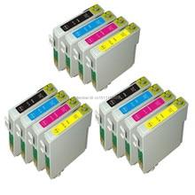 12 inks T0711-T0714 T0715 compatible ink cartridge For Stylus SX215/SX218/SX400/SX405/SX405WiFi/SX410/SX415/SX510 printer