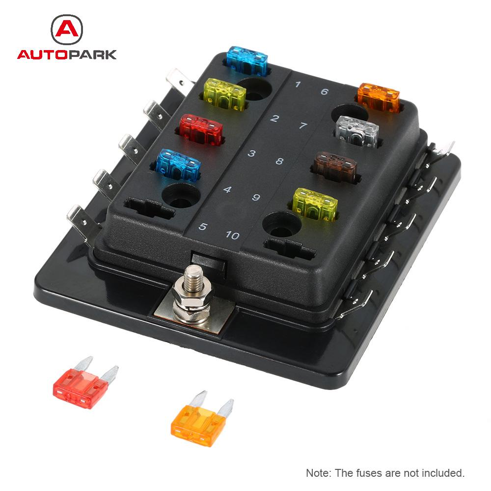 10 Way Mini Blade Fuse Box Holder Apm Atm 5a 10a 25a For Car Boat Marine Trike 12v 24v