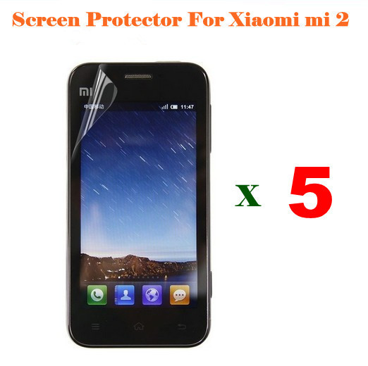 5 pieces of Clear Screen Protector FilmFor Xiaomi M2 cell phone , Fast shipping