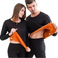 Зимнее бархатное толстое термобелье для мужчин теплая многослойная одежда пижамы термос мужские кальсоны вторая Термальная женская кожа