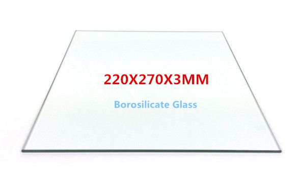 Funssor Borosilicate Glass plate 220x270 mm Heat Bed Build Plate For DIY Anet E10 3d Printer 3MM thickness