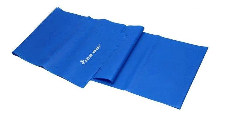 1.5m Yoga Pilates Ausdehnungswiderstand-Band-Übungs-Eignungs-Band, das blaues Purpur ausbildet Freies Verschiffen