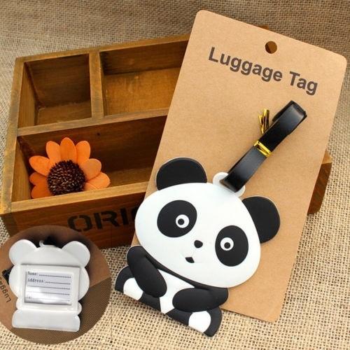 Panda Bear Luggage Tag Label Suitcase Bag ID Tag Name Address Tag