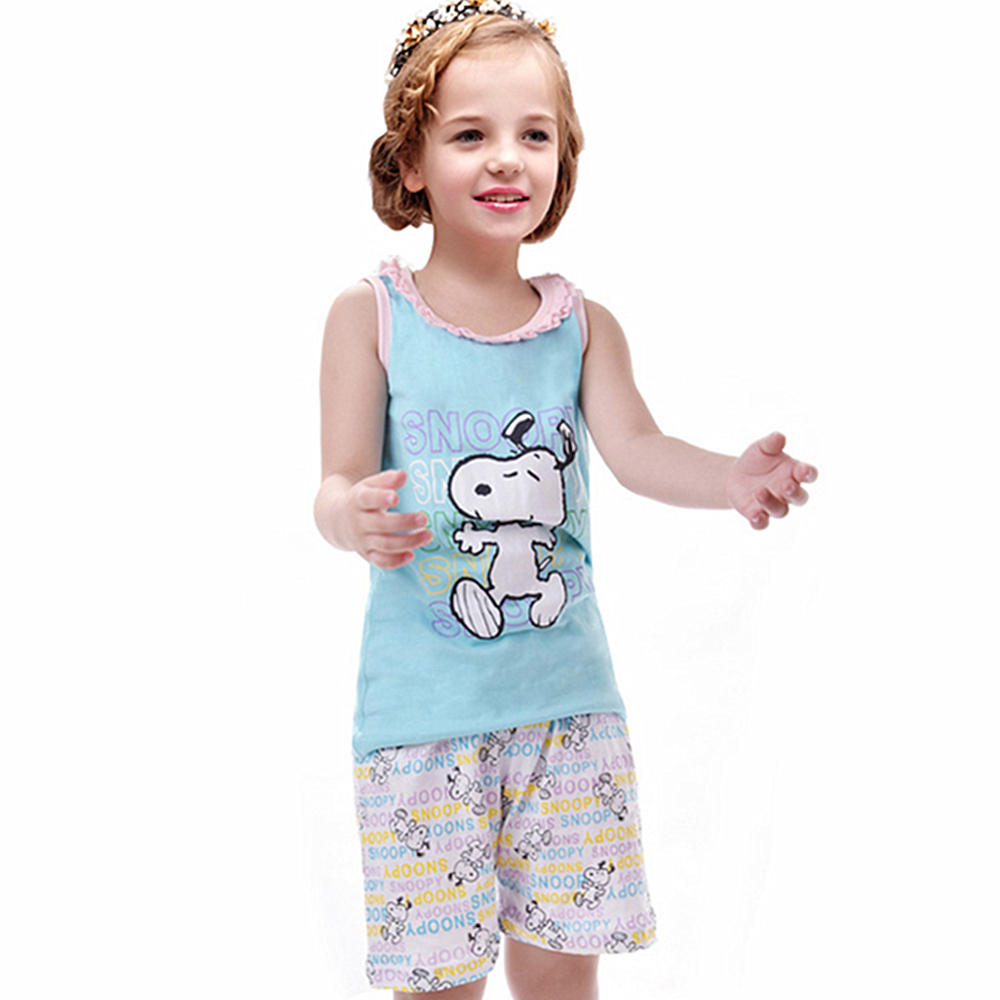 Yilaku Kids Summer Pyjamas Girls Cartoon   Pajama     Sets   infantil T-shirts + Shorts pijamas infantis clothing   sets   CF225