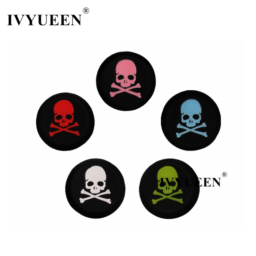 510836df7e3 IVYUEEN 100 pcs Silicone Skulls Analog Thumb Sticks Grips for PlayStation 4  PS4 PRO