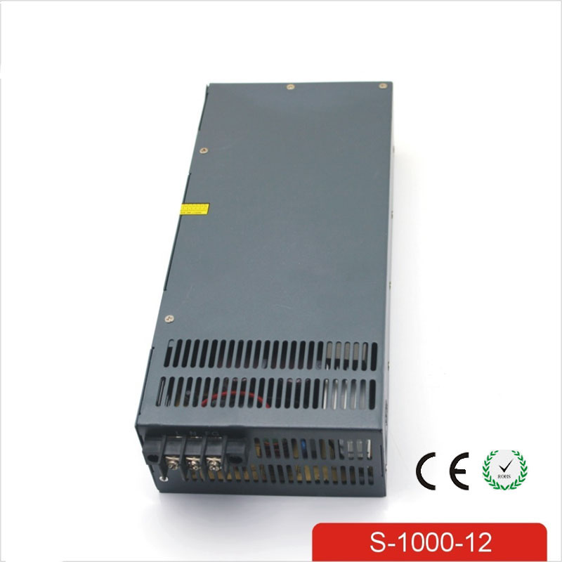 CE Soro 110V INPUT 1000W 12V 80A power supply Single Output Switching power supply for LED Strip light AC to DC UPS ac-dc 1200w 12v 100a adjustable 220v input single output switching power supply for led strip light ac to dc