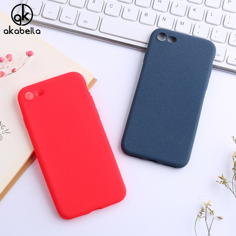 AKABEILA For iPhone 6 6S 7 Plus Case Apple iPhone6 iPhone6 Plus iPhone7 iPhone7Plus Cover Back Scrub Soft Shell Housing Covers