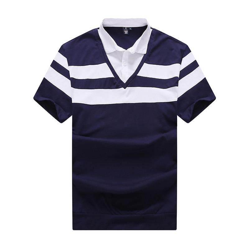 Hommes Shirts D'été Marque Casual Manches 2 Chemise De 6xl Mâle Polo Top Rayé 2018 Mode 1 8xl Courte Vêtements 10xl qAZf00