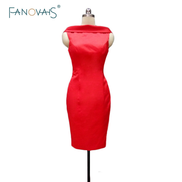 Mother of the Bride Dresses Knee Length Evening dress Red Formal ...