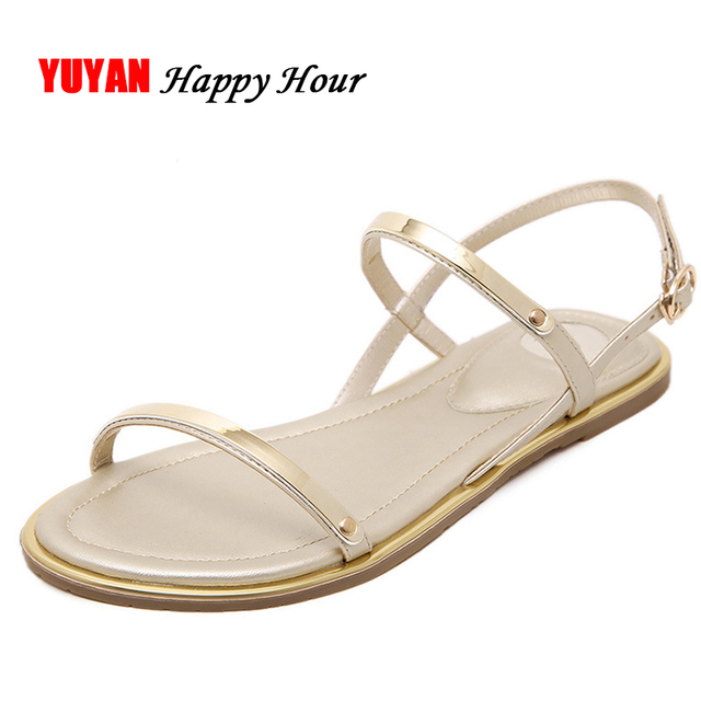 ac620eac4 2019 Summer Shoes Women Flat Sandals Women s Sandals Ladies Fashion Brand Beach  Summer Shoes Big Size 42 ZH2815
