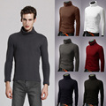 A tendência dos homens de todos os jogo de moda camisola masculina básica elegante magro camisola de gola alta
