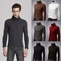 Todo-fósforo suéter básico de Los Hombres la tendencia de la moda masculina elegante jersey de cuello delgado