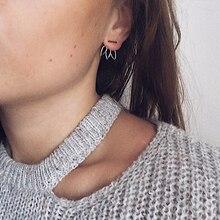 Laramoi 925 Sterling Silver Lotus Drop Shape Stud Earrings for Women Fine Jewelry Gifts Girls Ladies Teens Travelling Party