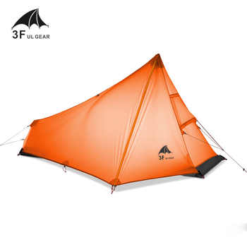 3F UL GEAR Oudoor Ultralight Camping Tent 1 Person Professional 15D Nylon Silicone Rodless Tent Lightweight Camping Gear