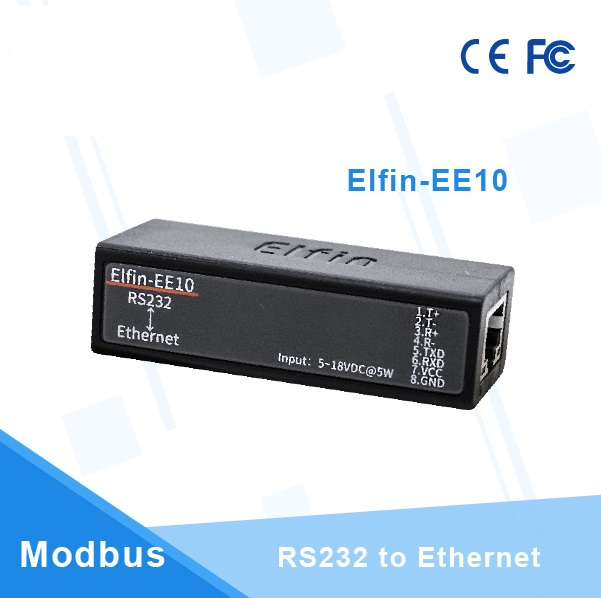 Elfin-EE10 Wireless HF Smallest Networking Devices Modbus TPC IP Function RJ45 RS232 To Ethernet Serial Server
