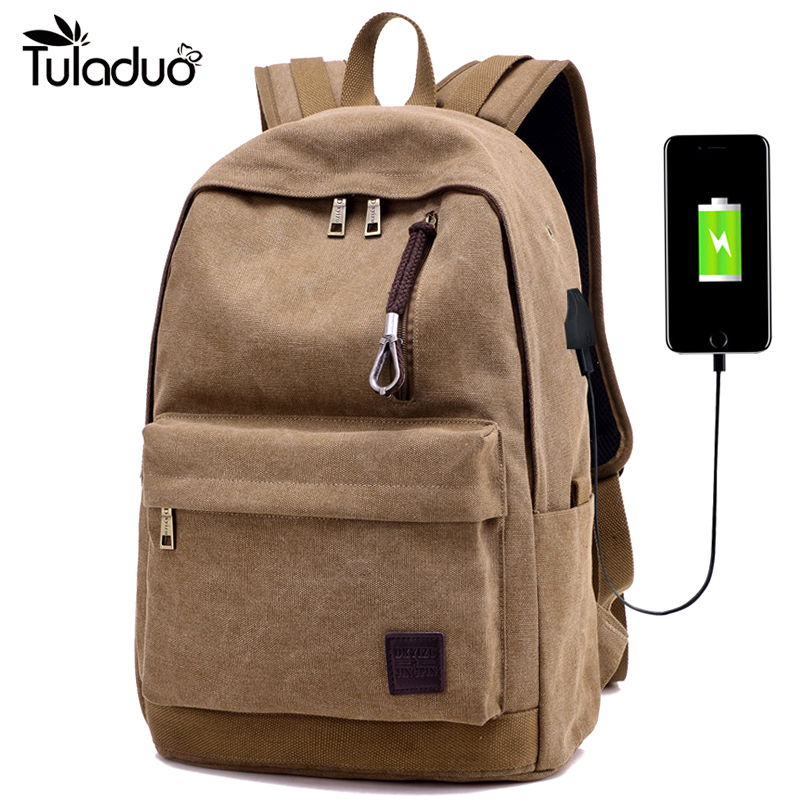 New Canvas Backpack  Unisex School Backpacks Men Bags for 14 inch Notebook Computer Casual Rucksack Travel for Teenagers Bag