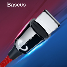 Baseus USB Cable for iPhone XR Xs Max 2.4A Smart Power Off Fast Charge Cable for iPhone X 8 7 6s 6Plus Nylon LED USB Data Cord