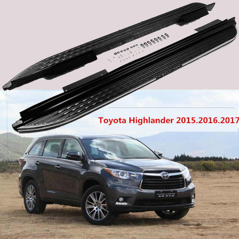 For Toyota Highlander 2015.2016.2017 Car Running Boards Auto Side Step Bar Pedals High Quality New Original Design Nerf Bars