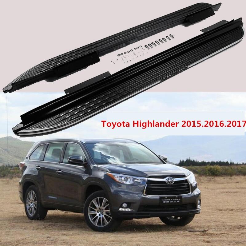 For Toyota Highlander 2015.2016.2017 Car Running Boards Auto Side Step Bar Pedals High Quality New Original Design Nerf Bars