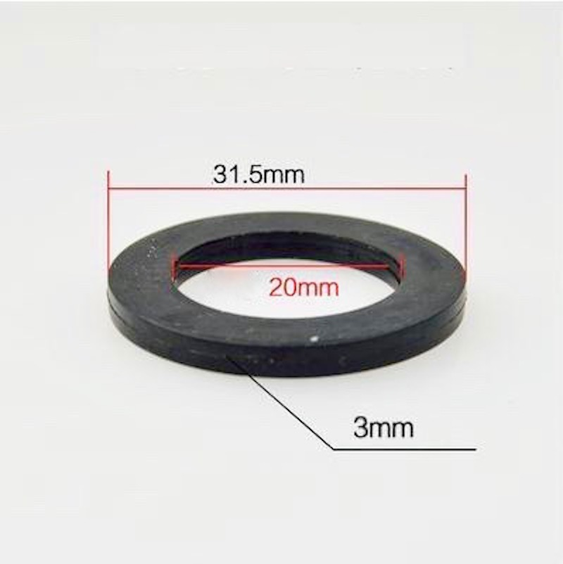 5x Black Rubber Flat Ring Sealing Washers Loose Joint Shower Heads Nozzles Faucet Gaskets Spacer 31.5mm x 20mm x 3mm OD31.5 ID20
