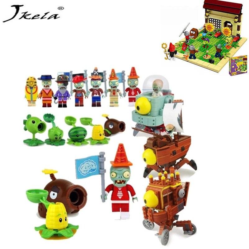 16 Sets Plants vs Zombies Bausteine-Blöcke Kids Children Toys Game Gift DE