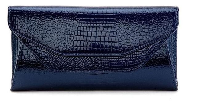 ASNK brand Women handbag Crocodile Pattern Leather Shoulder Bag Evening Clutch Wallet Chain Messenger Bag