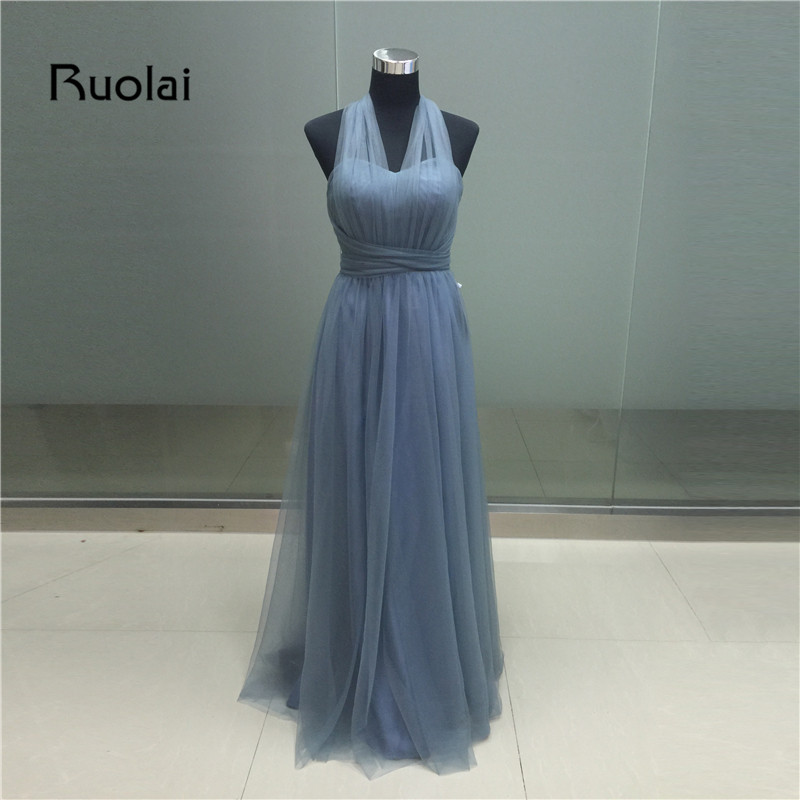 Real Image 2019 Sweetheart A-Line Ruffles Tulle Maid of Honor   Dresses   Long   Bridesmaid     Dresses   Wedding Party   Dresses   BM17