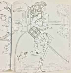 Image 4 - ファッション外観塗り絵アダルトチルドレンのための女の子抗ストレス絵画シークレットガーデンぬりえアカウントサービス